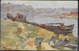 EZECHIELE ACERBI - PAVIA - IL TICINO VERSO S. MAURO - FORMATO PICCOLO - ED. ZINCOGRAFICA MILANO - VIAGGIATA 1914 - Pittura & Quadri
