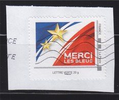 = Merci Les Bleus Du Collector Une équipe Une Nation Une Nouvelle étoile TVP LV Oblitéré Sur Fragment Cadre Philapost - France