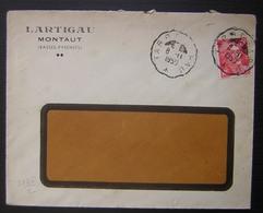Montaut (Basses Pyrénées), 1950 Lartigau Avec Convoyeur Tarbes à Pau - Marcophilie (Lettres)