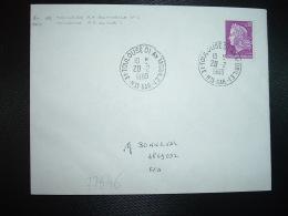 LETTRE TP M. DE CHEFFER 0,30 OBL.20-2 1969 31 TOULOUSE 01 AN MOBILE 1 HTE GAR (ANNEXE MOBILE) - Marcophilie (Lettres)