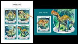 SIERRA LEONE 2018 - Dinosaurs. M/S + S/S Official Issue. - Préhistoriques