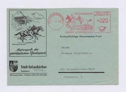 BRD AFS - GELSENKIRCHEN, Galopp -u. Trabrennen 11.9.63 Auf Brief - Reitsport