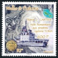 WALLIS ET FUTUNA 2011 - Yv. 747 **   Faciale= 5,03 EUR - Bateau Batral J.Cartier. Aide Humanitaire  ..Réf.W&F22284 - Wallis-Et-Futuna