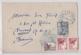 Espagne Lettre Coll D'en Rebassa Palma De Mallorca Baleares Pour Frévent 1948 - 1931-Oggi: 2. Rep. - ... Juan Carlos I