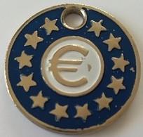 Jeton De Caddie - Euro Et 12 étoiles - En Métal - - Trolley Token/Shopping Trolley Chip