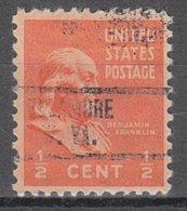 USA Precancel Vorausentwertung Preo, Locals West Virginia, Ellamore 734 - Etats-Unis