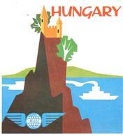 ETIQUETA  -  HUNGARY -IBUSZ (ORGANIZADOR DE VIAJES) - Advertising