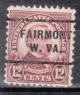 USA Precancel Vorausentwertung Preo, Locals West Virginia, Fairmont 693-255 - Etats-Unis