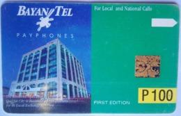 Bayan Tel Building 1st Edition 100 Pesos - Philippines