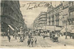 Cpa MARSEILLE 13 - 1904 - La Rue Noailles (animée, Tramway, Attelages) N° 1810 - The Canebière, City Centre