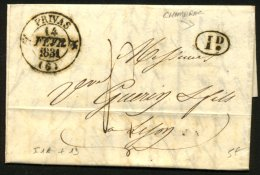 ARDECHE: Pli De CHOMERAC De 1831 En Port Du Avec CàDate Type 12 De PRIVAS (6) 1D P LYON - Marcophilie (Lettres)