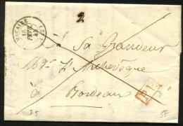 GIRONDE: Pli De Saint MACAIRE De 1845 En Port Payé Avec CàDate Type 15 De St MACAIRE (32) + PP P BORDEAUX - Marcophilie (Lettres)