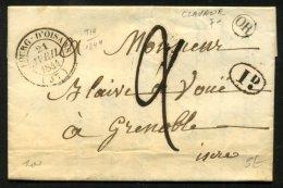ISERE: Pli De CLAVAUR De 1849 En Port Du Avec CàDate Type 14 De LE BOURG-D'OISAN (37) + Origine Rurale OR  P GRENOBLE - Postmark Collection (Covers)