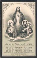 Dp. Mouton Scraphina. Wed. Hallaert Ludovicus. ° Sint Joris-ten-Distel 1816 † Beernem 1909  (2 Scan's) - Religion & Esotérisme