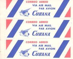 ETIQUETA    LIBRITO CON15 ETIQUETAS  DEL CORREO AEREO CUBANO - Publicidad