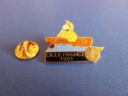Pin's Canoë Kayak - Lille France 1991 - World Corporate Games (PQ68) - Canoeing, Kayak