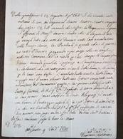 1814 LETTERA DA MACERATA CON RARISSIMO TIMBRO AD ARCO DESTINATA A ILLUSTE SIG.  CAVALIERE - Manuscritos