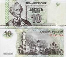Transnistria 2007 (2012) - 10 Rublei - Pick 44b UNC - Bankbiljetten