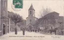 BEAUMES De VENISE - Place De L'Eglise - Attelage - Animé - Beaumes De Venise
