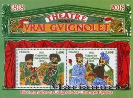 France 2018  BICENTENAIRE VENUE DU THÉÂTRE DE GUIGNOL AUX CHAMPS ELYSÉES - Theater Puppet Puppen MNH / Neuf - Blocs & Feuillets