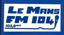 A.C LE MANS FM 104 103,9 MHZ - Stickers