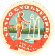 ETIQUETA     SÓSTÓ GYÓGYFÜRDO (BALNEARIO)  -SÓSTÓL - Publicidad