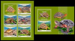 GUINEA BISSAU 2018 - Turtles. M/S + S/S. Official Issue - Schildpadden