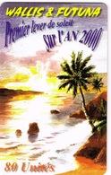Wallis Et Futuna Telecarte Telecard Phonecard  WF17 1999 Lever Soleil An 2000 Cocotier TBE Sans Numero Ut - Wallis-et-Futuna