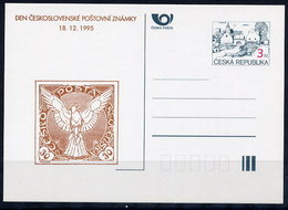 CZECH REPUBLIC 1995 3 Kc. Stamp Day Private Postcard Unused. - Postal Stationery