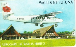 Wallis Et Futuna Telecarte Telecard Phonecard  WF15 1998 Aerogare Aeroport Avion Air Caledonie Hibiscus TBE Sans Num Ut - Wallis-et-Futuna