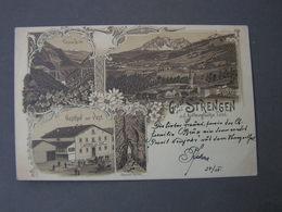 Strengen Bei Landeck , Litho 1897 Ahrlbergbahn Nach München - Landeck