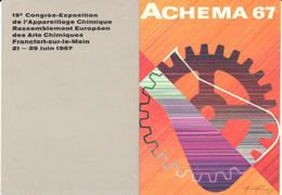 ETIQUETA    -ACHEMA 67 -15e CONGRÈS-EXPOSITION DE L'APPARELLAGE CHIMIQUE - Publicidad