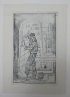 Ex-libris Illustré XXème - Italie - Construction, Maçonnerie - Giovanni BOTTA - Ex-libris