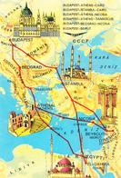 BUDAPEST ATHENS CAIRO NICOSIA DAMASCUS BEIRUT MAP - Aerodromes