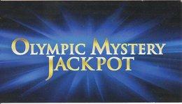 ESTONIA  KEY  CASINO Olympic Mystery Jackpot (PAPER CARD) - Casino Cards