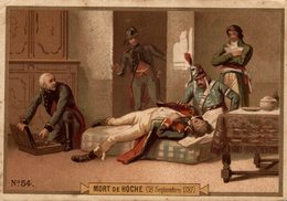 CHROMO DIDACTIQUE MORT DE HOCHE - Chromo