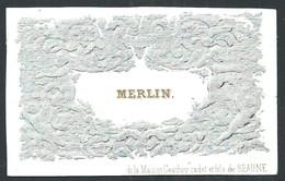 Carte Porcelaine Merlin Gauthey Beaune  8 X 5 Cm - Beaune