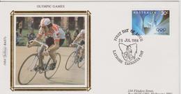 FDC AUSTRALIE  JEUX OLYMPIQUES  DE LOS ANGELES 1984  CYCLISME - Sommer 1984: Los Angeles