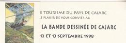 Marque Page GIBRAT Jean-Pierre Festival BD Cajarc 1998 (Le Sursis) - Bookmarks