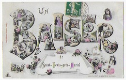 Cpa Bon Etat , Un Bonjour De  Saint-denis-pres -martel , Courrier Verso , Carte Rare - France