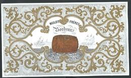 Carte Porcelaine Mulot Frères Bordeaux  20 X 12 Cm - Bordeaux