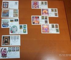Vaticano - Annata 1974 Completa - 10 Buste FDC Filagrano Di Cui 6 Gold In Seta - FDC