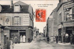 S861  -  Cpa 14  Saint Aubin Sur Mer - La Rue Pasteur - Saint Aubin