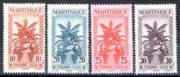 Martinique - 1943 -  Timbres Taxe - 23 à 26 - Neufs* - MLH - Martinica (1886-1947)