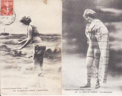 2 Cpa, Femme, Maillot De Bain, Au Bord De L'Océan,  2 Scans - Femmes