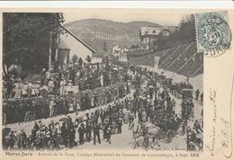 MOREZ  Avenue De La Gare, Cortège Ministériel Du Concours De Gymnastique 4.09.1904 - Morez