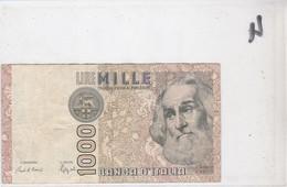 Billet 1000 Lires DF 589837 R - [ 2] 1946-… : République