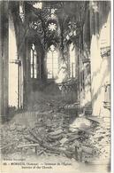 GUERRE 14 18 SOMME MOREUIL INTERIEUR DE L'EGLISE - Guerre 1914-18