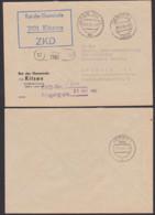 Kitzen Landkreis Leipzig ZKD-Brief 1965 Germany East , GDR, Spatelstempel Rat Der Gemeinde, KSt In Blau Statt Violett - DDR