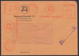 Kirchberg Kr. Zwi AFS =Deutsche Post 005, 010 = 1961, Richard Doerfel Wirtschaftsdrucksache - [6] Oost-Duitsland